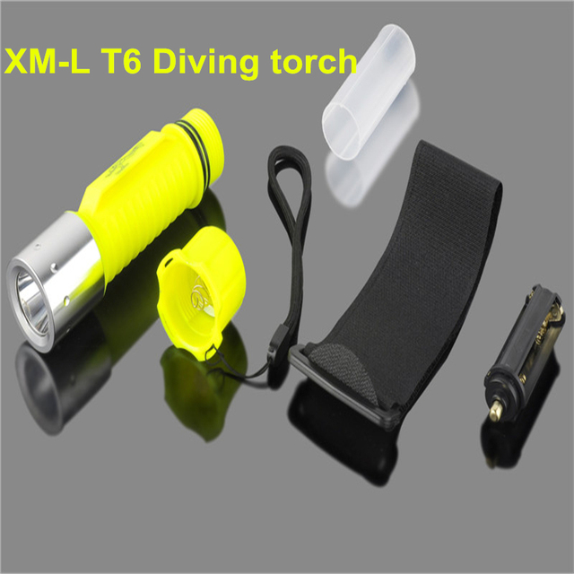 2000LM XM-L T6 LED Waterproof scuba Diver Diving Flashlight underwater Dive Torch light lamp for AAA/18650 Battery