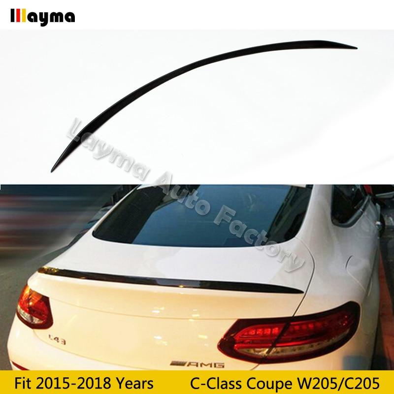 Carbon Fiber Trunk Spoiler Wing For 2015-2018 Mercedes Benz W205 C300 C63 Coupe