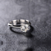 Classic 925 Sterling Silver 0 5 1 1 5 2 3 4 Carat Sona Ring Engagement