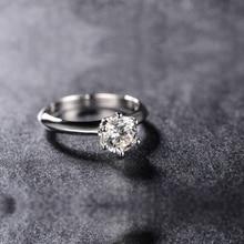 цена на Classic 925 Sterling Silver 0.5/1/1.5/2/3/4 Carat Sona Ring Engagement Lover Finger Ring Women Elegant Wedding Ceremony Gift