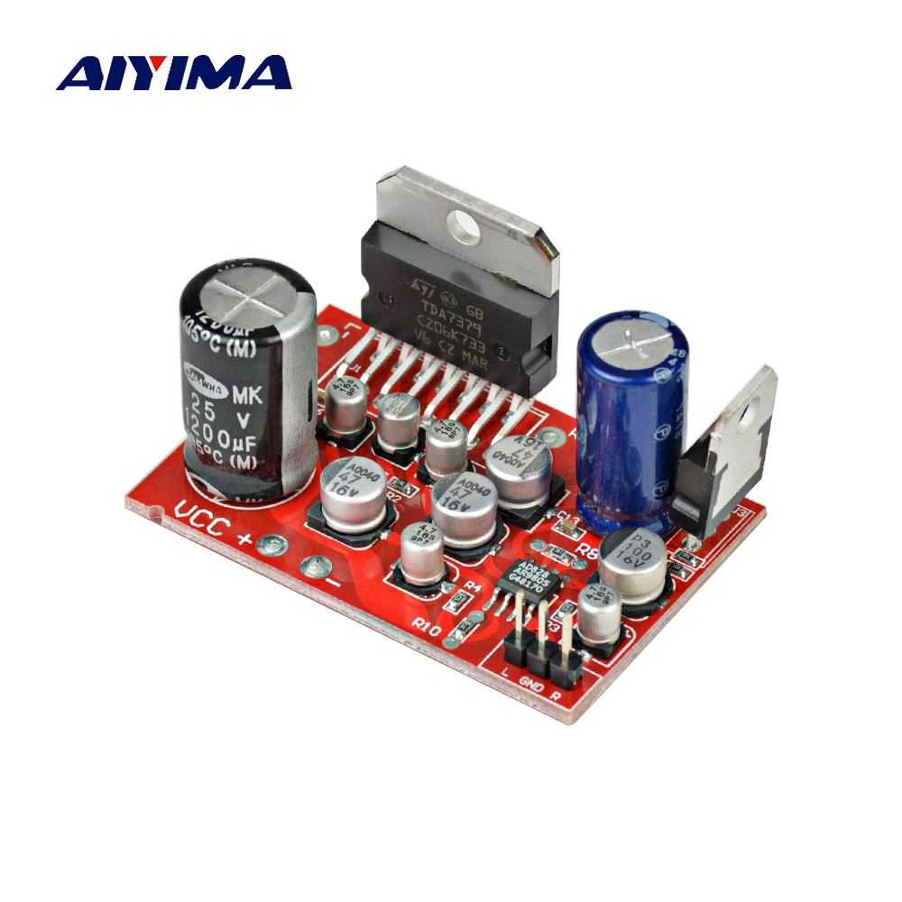 AIYIMA Amplifiers Audio DC12V Amplificador TDA7379 38W+38W Stereo Amplifier Board AD828 Preamp Super Than NE5532 Electric Module