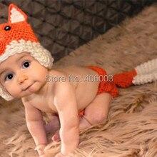 Лидер продаж; лиса ручной работы; шляпа «кроше» для фотографирования; одежда для малышей