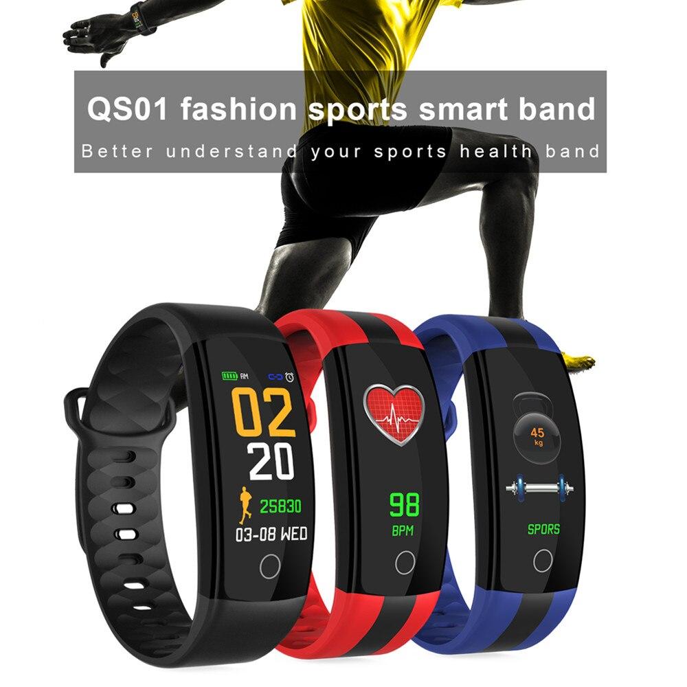 Newest Smart Bracelet Watch QS01 Fitness Tracker Blood Pressure Heart Rate Monitor Smart watch IP67 Better PK  QS90 mi band 3
