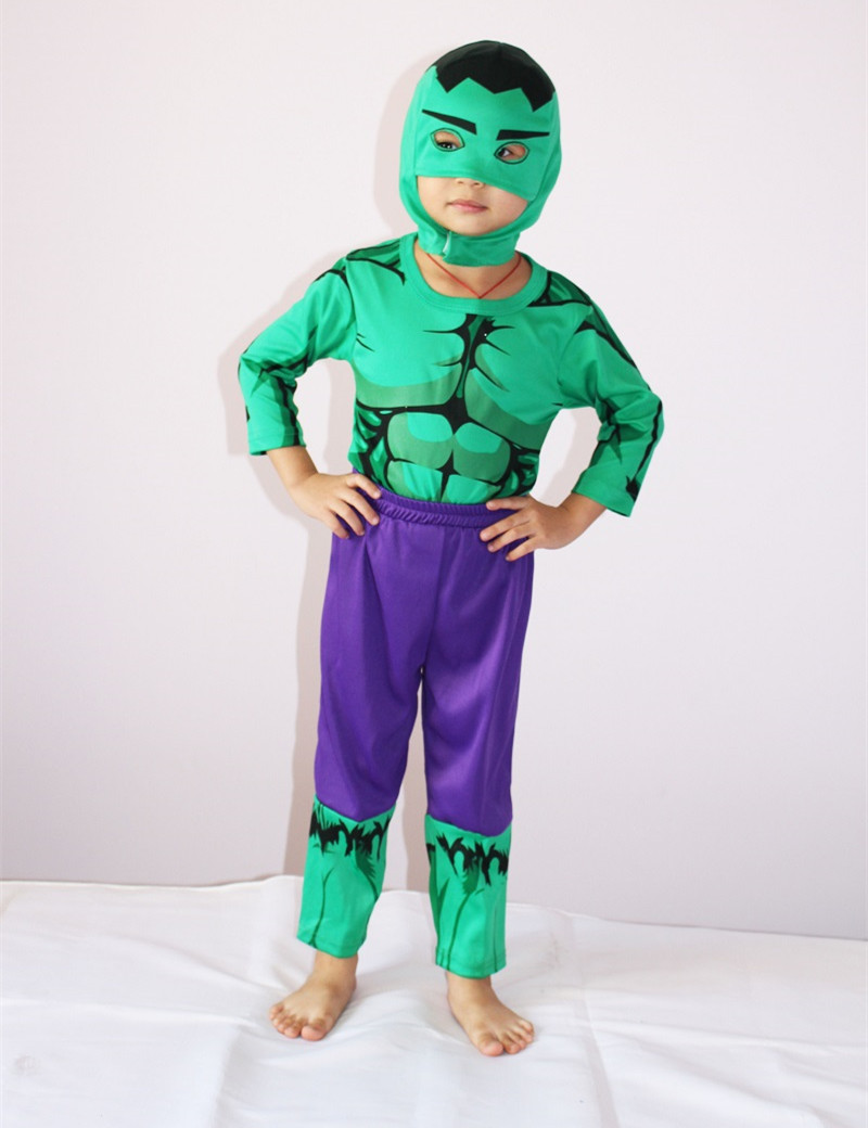 Children Halloween Costume, Boy Green Lantern Costume, 3-4-5-6-7 Kid Carnival Party Cosplay, Long Sleeve T Shirt, Free Shipping