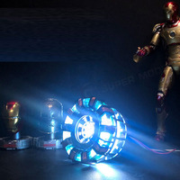 DIY Avengers Tony Stark Heart With Led Light 1:1 Scale Iron Man Arc Reactor Core Gifts Need To Assemble Cosplay Prop Kid Gift