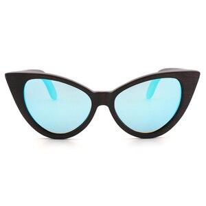 Image 2 - Ms. du mu hei polarizando óculos de sol personalidade na moda borboleta polarizando lente uv400 óculos anti ultravioleta