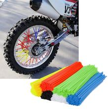 72 Pcs Bike Wheel Spoke Wraps Skins Trim Cover Pipe Motorcycle Dirt Pit Colourful 9 Colors PVC Plastic