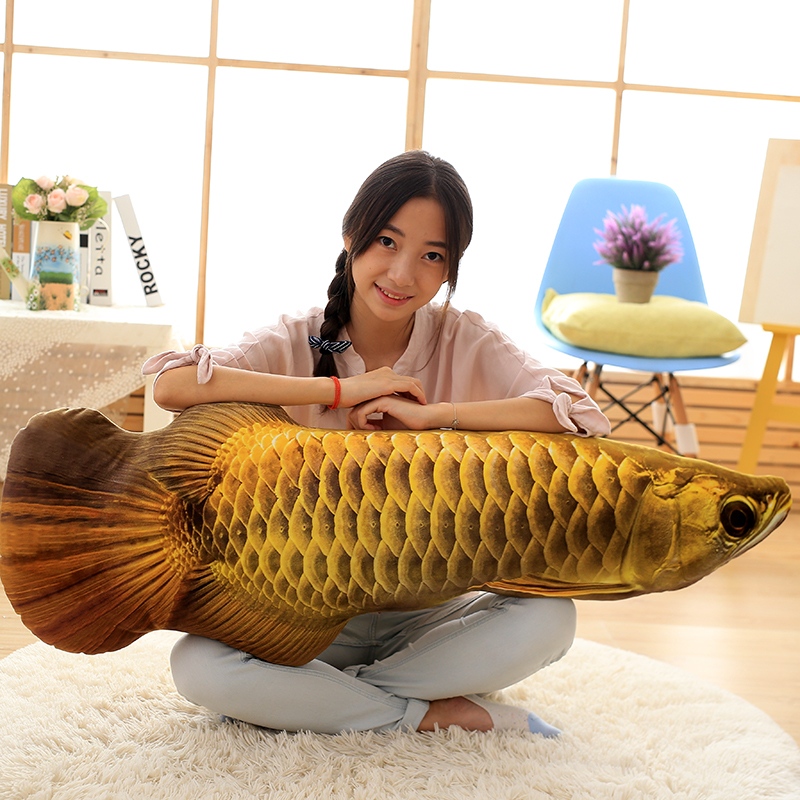 large 120cm simulation fish plush doll soft throw pillow toy home decoration gift h2831 120cm creative simulation arowana plush toy pillow cushion fish doll home decoration