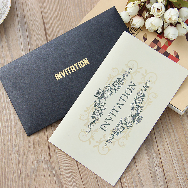 high end business activities invitations black retro invitations