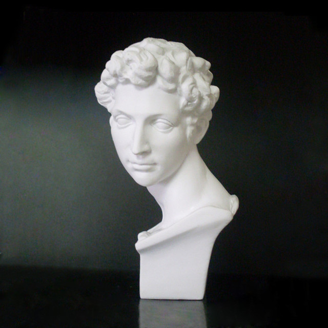 David Head Portraits Bust Mini Gypsum Statue Michelangelo Buonarroti Home Decoration for Resin Art&Craft Sketch Practice 5