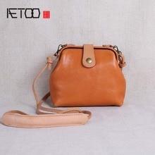AETOO New womens bag leather mini  shoulder Messenger simple doctor