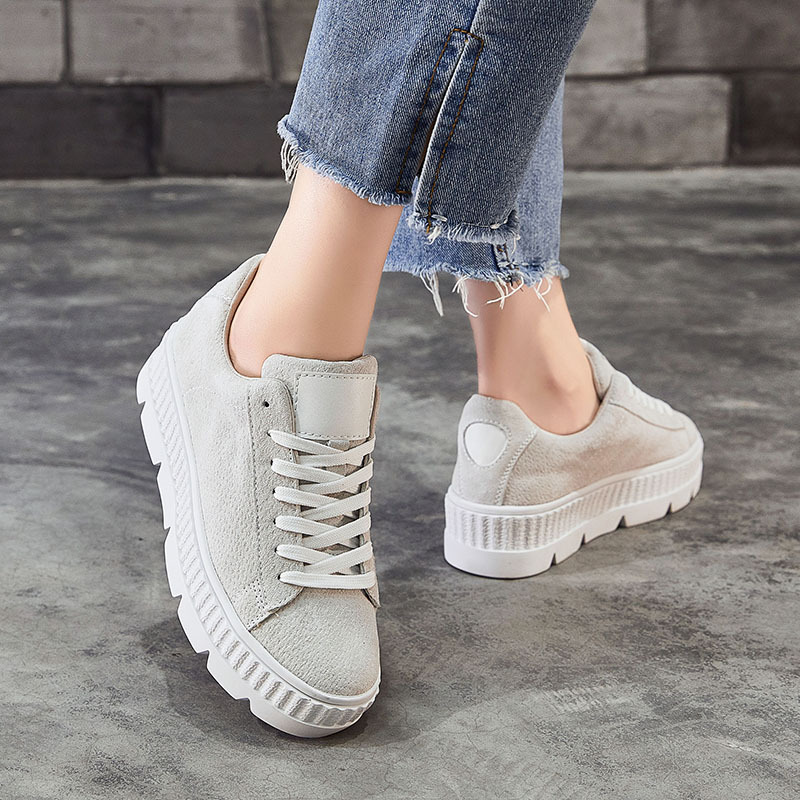 ... Female Breathable Casual Lady chaussure 2018 Skin Sneakers Women Fashion  Pig EARTH Autumn footware STAR Shoes ... 6fe540b88fbf