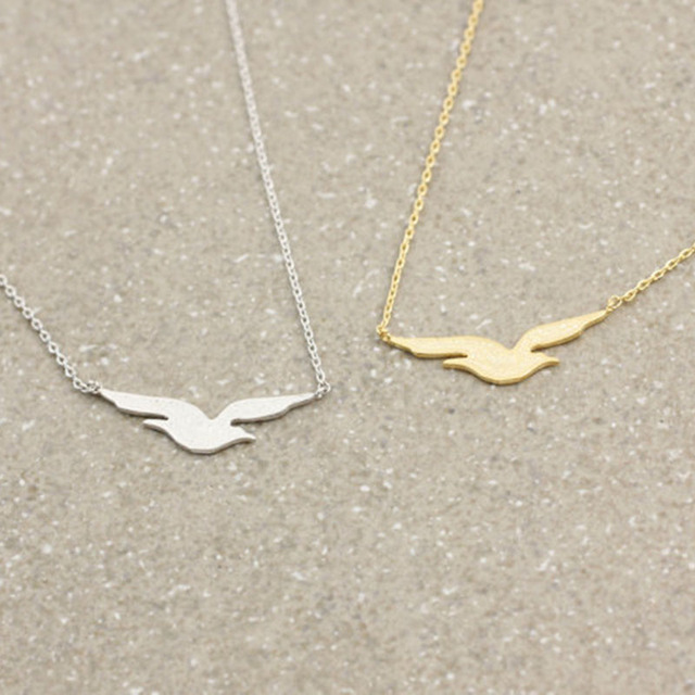 Danggao fashion unique seagull bird pendant necklace for women danggao fashion unique seagull bird pendant necklace for women collar choker necklace jewellery accessory gold silver mozeypictures Images