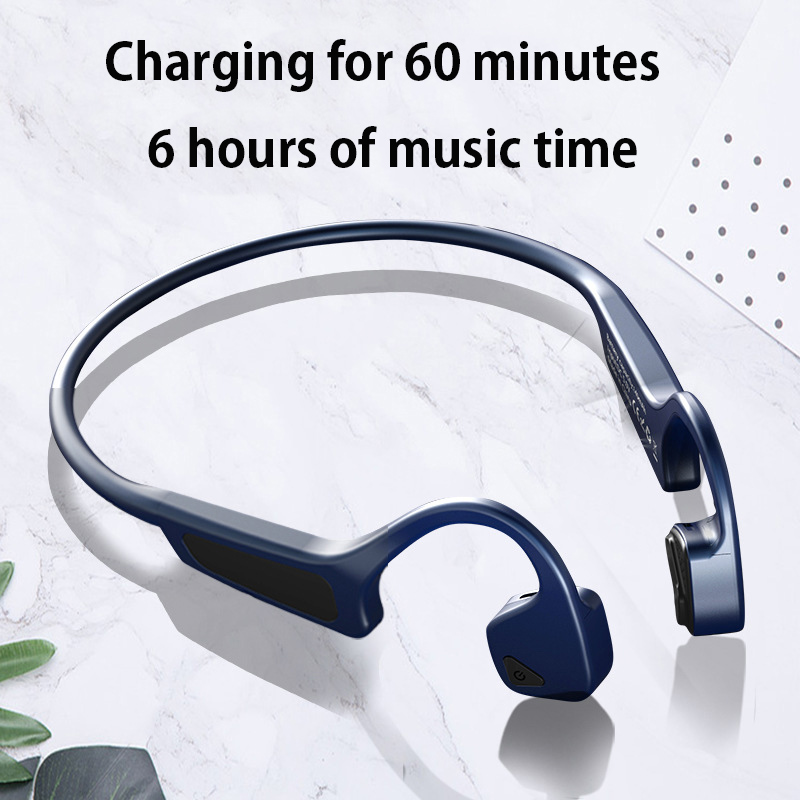 G18 Bone Conduction Earphone Bluetooth 5 0 Wireless Stereo Headset Sport Earphones With Mic For iphone