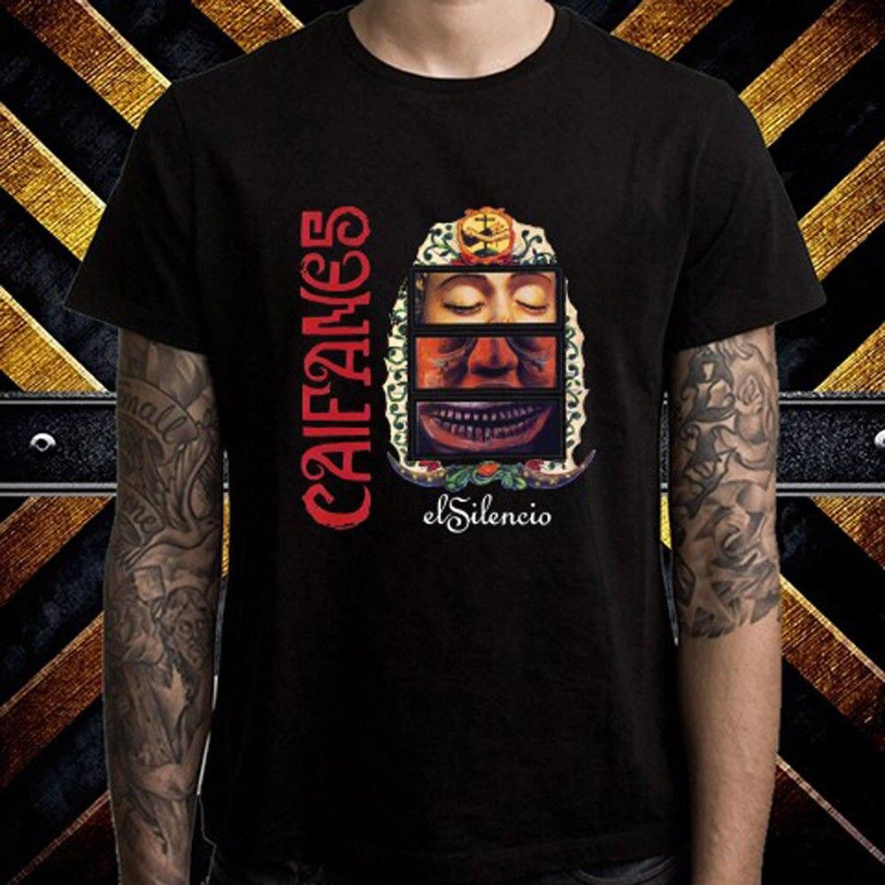 Новый Caifanes El Silencio мексиканской рок-группа Для мужчин черный футболка Размеры S к 3XL высокое качество Повседневное печати Tee