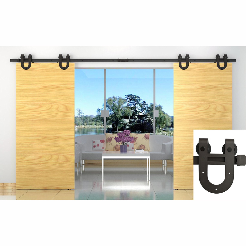 10/12/13/15 FT/16FT Horseshoe U Shaped Modern Barn Wood Interior Double Sliding  Door Hardware Roller Closet Track Set Kit In Doors From Home Improvement On  ...
