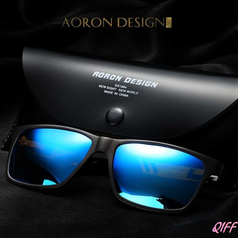 Drop&Wholesale Mens Polarized Driving Sunglasses Aluminum Magnesium Frame Rectangle Shades Reduce Glare Goggles Classic APR28