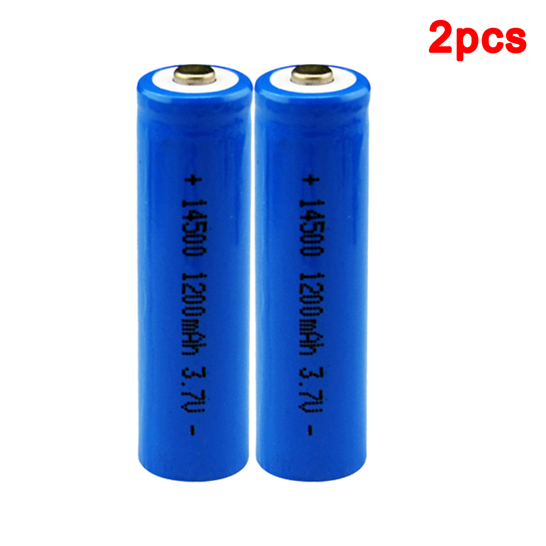 Centechia 2 pcs High Capacitance 14500 Battery 3.7V 1300mAh Rechargeable Battery for Led Flashlight Batery Battery Newest