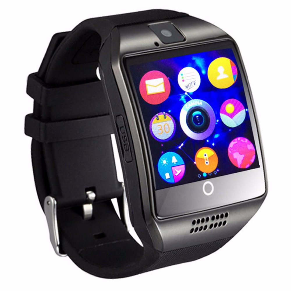 Bluetooth Smart Watch Q18 Support SIM GSM Camera Facebook Whatsapp Sync SMS MP3 TF Card For IOS Android Phone