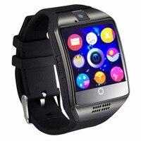 Soporte SIM GSM Cámara Bluetooth Reloj Inteligente Q18 Facebook Whatsapp Sync SMS MP3 TF Tarjeta Para IOS Android Teléfono