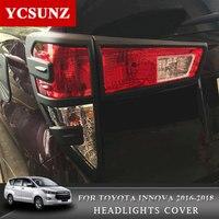2016 2019 Luci di Coda Della Copertura Per Toyota Ki Jang Innova 2016 2017 2018 2019 ABS Luci di Coda di Copertura di Ricambio per Toyota Innova Ycsunz-in Cromature da Automobili e motocicli su
