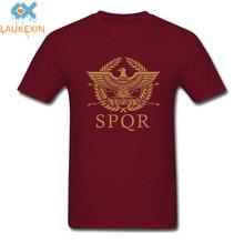 New Vintage SPQR Eagle Rome Latin Cool Retro T-Shirt Size XS-2XL Men Women Brand Clothing Funny Short Sleeve O Neck Cotton Shirt