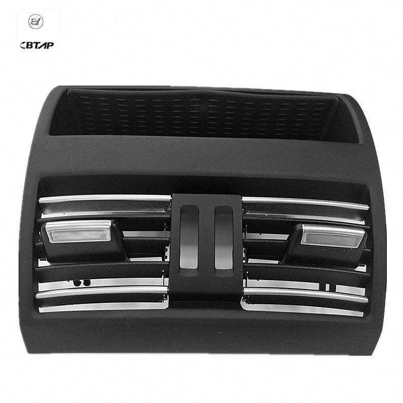 BTAP New Black Rear AC Conditioning Air Vent Grill Center For BMW 5 Series F10 F11