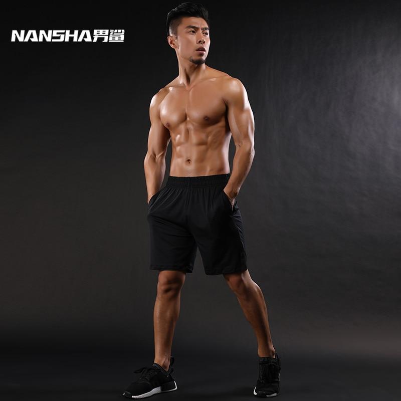 NANSHA מותג חם גברים מכנסיים דחיסה מכנסיים נושם גופיות נוחות גברים מכנסיים קצרים יבש מהיר