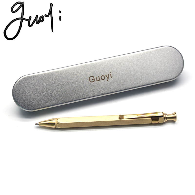 Guoyi A336 Copper Ballpoint Pen Learning Office Suitable For Stationery Gift Luxury Pen & Hotel Business Writing G2 424 Pen