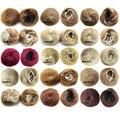 1PC Synthetic Elastic Bride Hair Bun Wig Hair Chignon Roller Hepburn's Hairpieces Diameter 12cm Hair Buns Toupee Free Shipping
