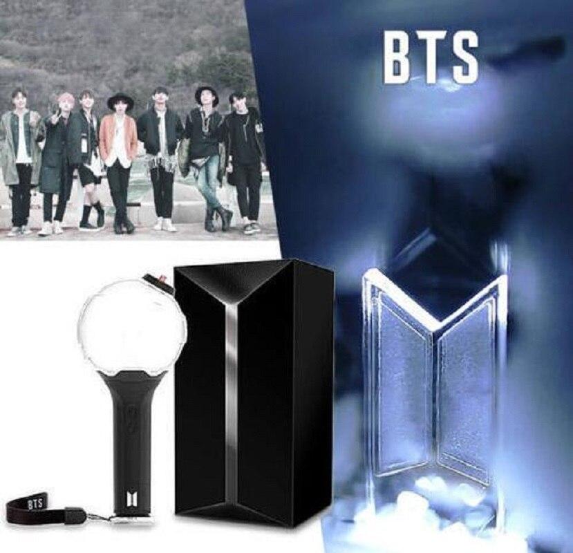 BTS Officielles Armée Bombe Ver.3 robe en laine Ver3 Kpop Bangtan Garçons BT21 Concert Lumineux Bâton Lumineux Flash Lampe