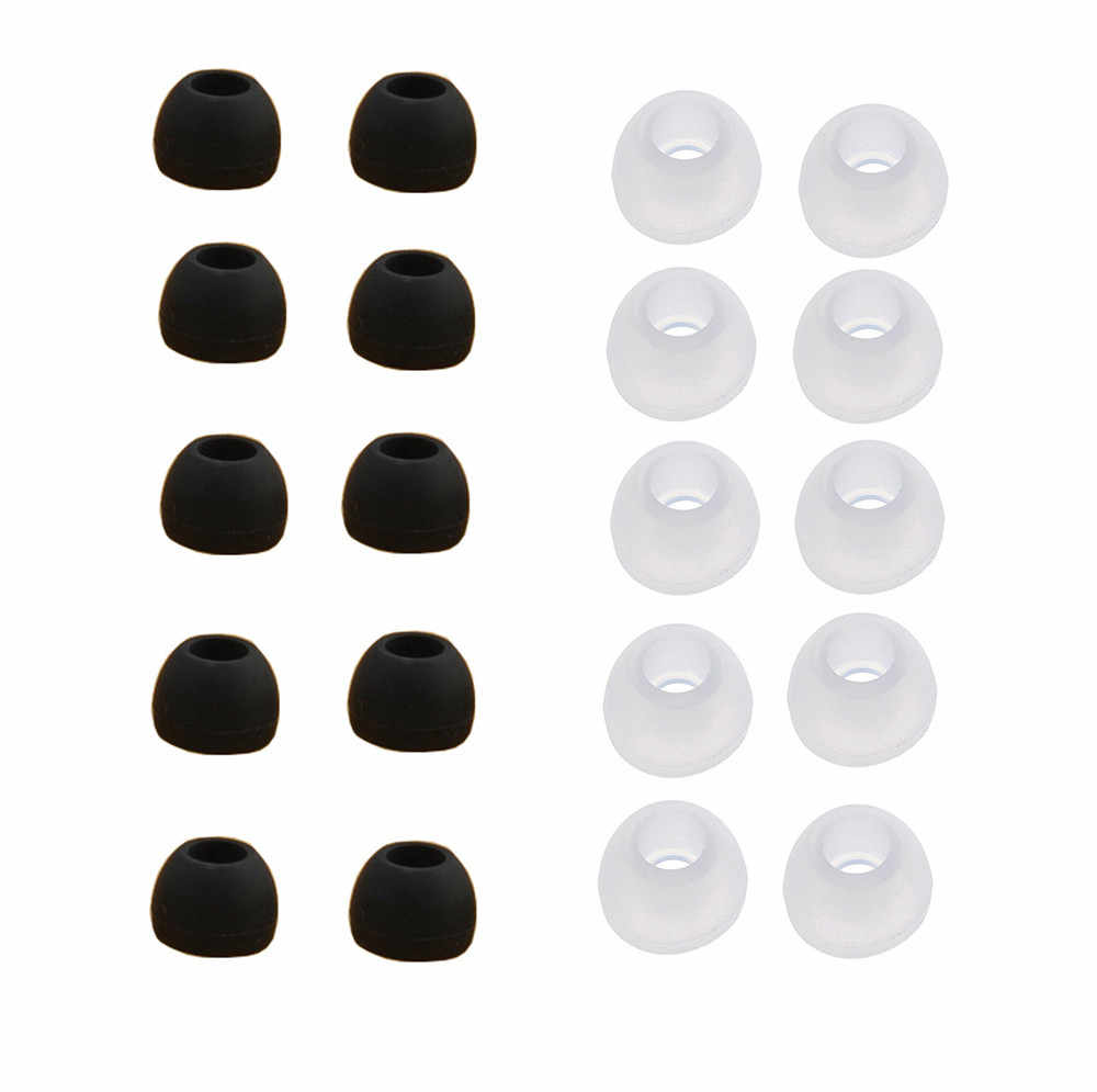 Anti-slip 10 Pairs Medium Size Clear Silicone Replacement Earbuds Tips For Sony Ear Bud Eartips Cushions Ear Gel Cover
