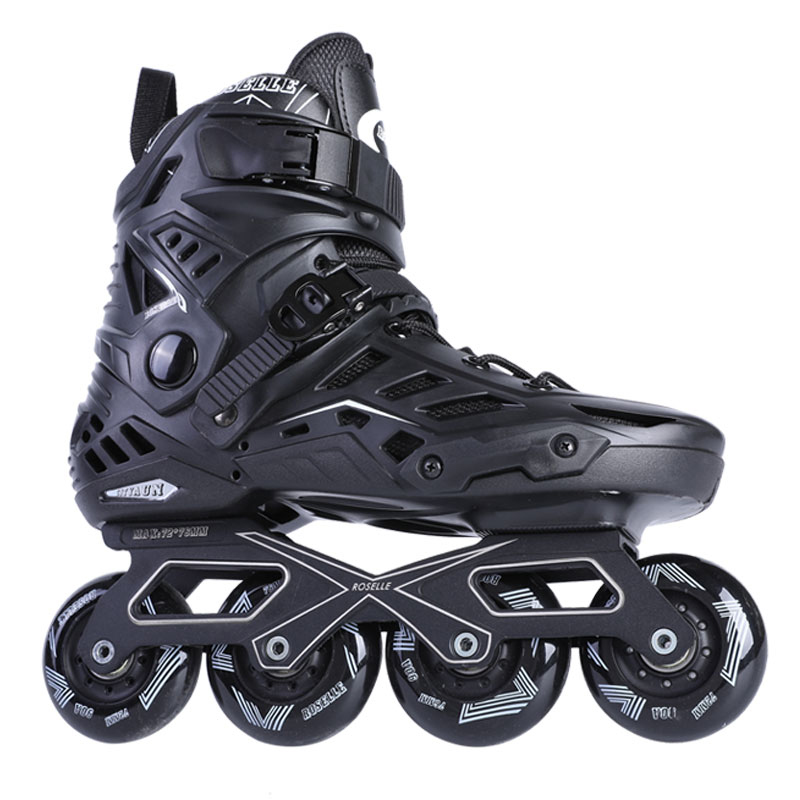 Women Men's Fitness Inline Skates With Aluminum Frames Rockered PU Wheels Roller Skating Shoes