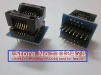 Free shipping/Programmer adapter Socket SOP8(208mil) +SOP8(150mil)+SOP28 to DIP28+SOP16+SOP28(flip)+PLCC44( send for free)!!!