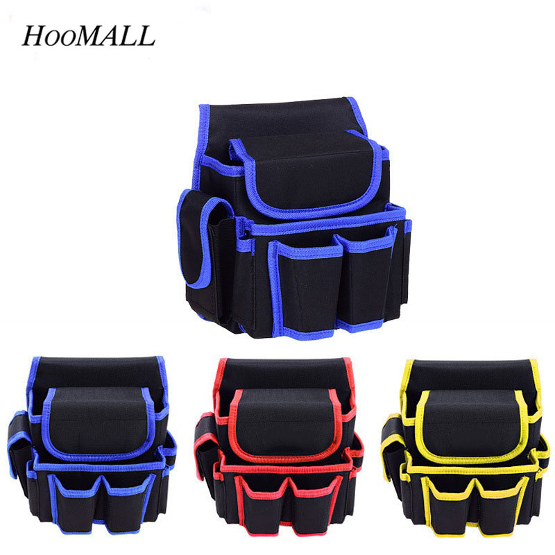 Hoomall Electrical Tool Bag Thicken Oxford Canvas Hardware Waist Tool Package Multifunction Multi-pocket Bag For electrician New