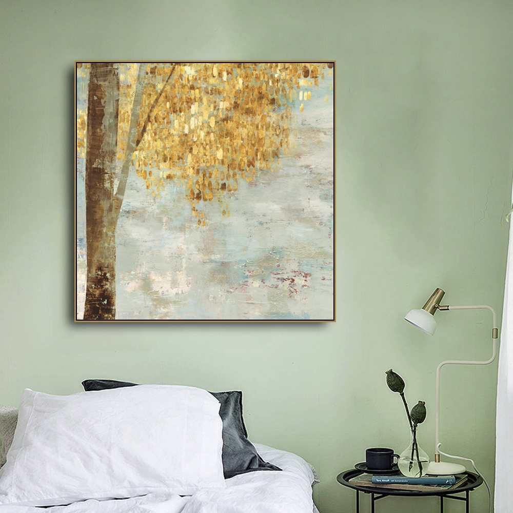 Permalink to Painting & Calligraphy Golden Abstract Prints Art Canvas Decoration Pictures Posters For House Living Room Bedroom Home Wall Art