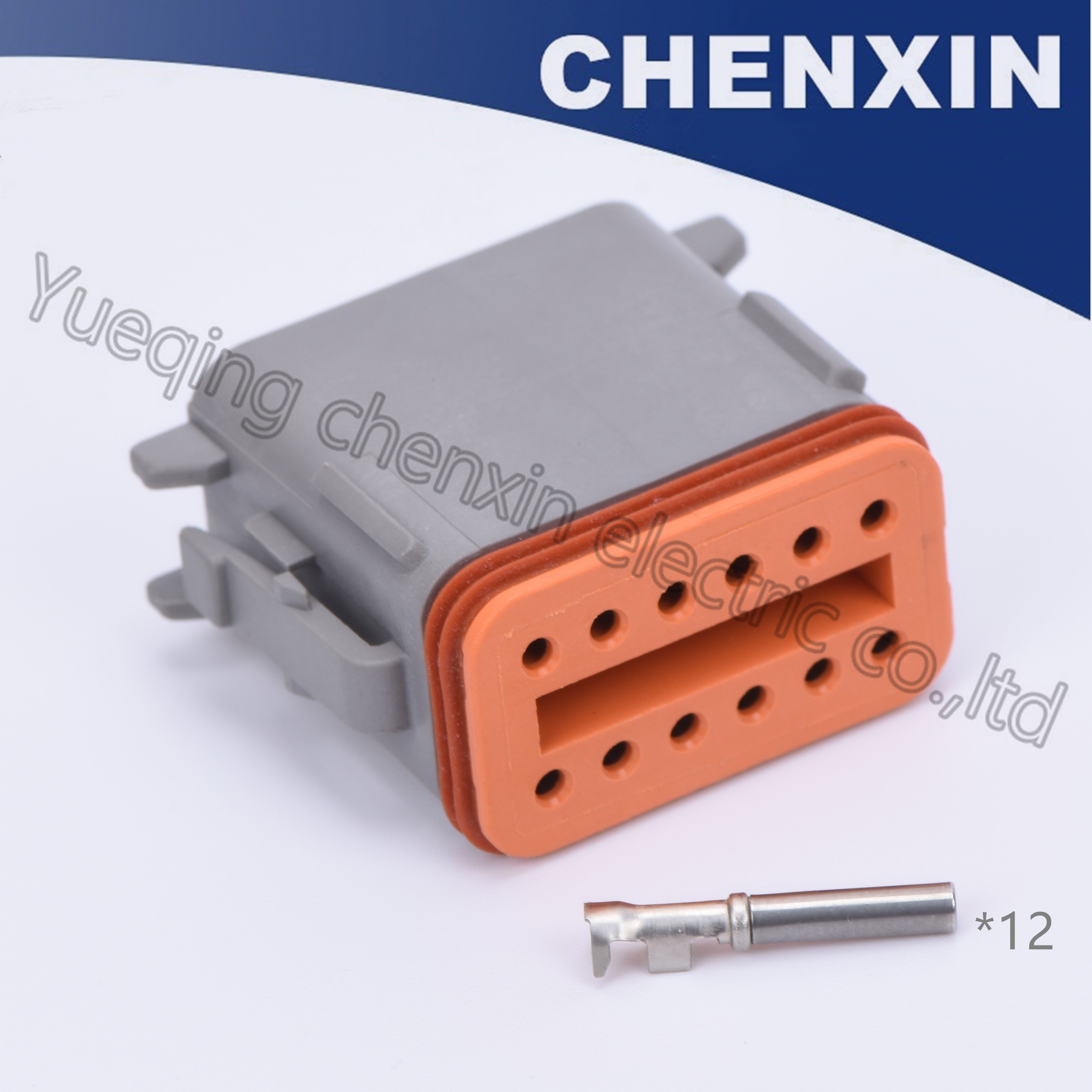 Gray 12pin car auto connectors 1 6 female DT series 22 16AWG wire electrical plug adapter