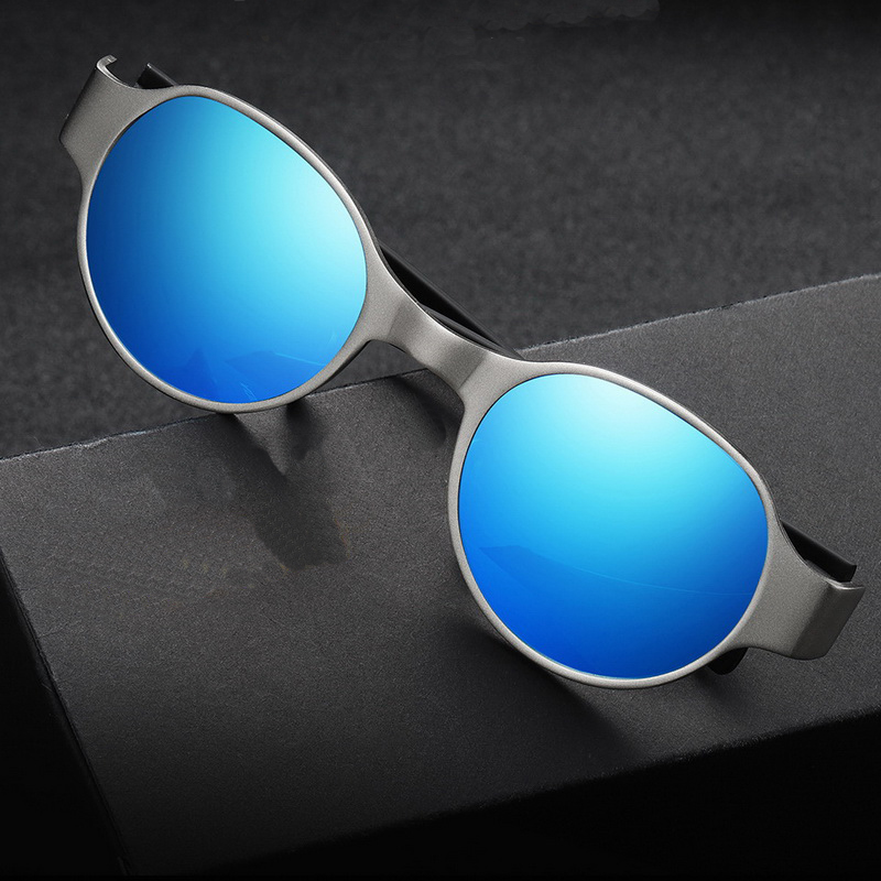 JYJEWEL Punk new retro round sunglasses sunglasses glasses Europe and America Prince mirror repair face type bright glasses image