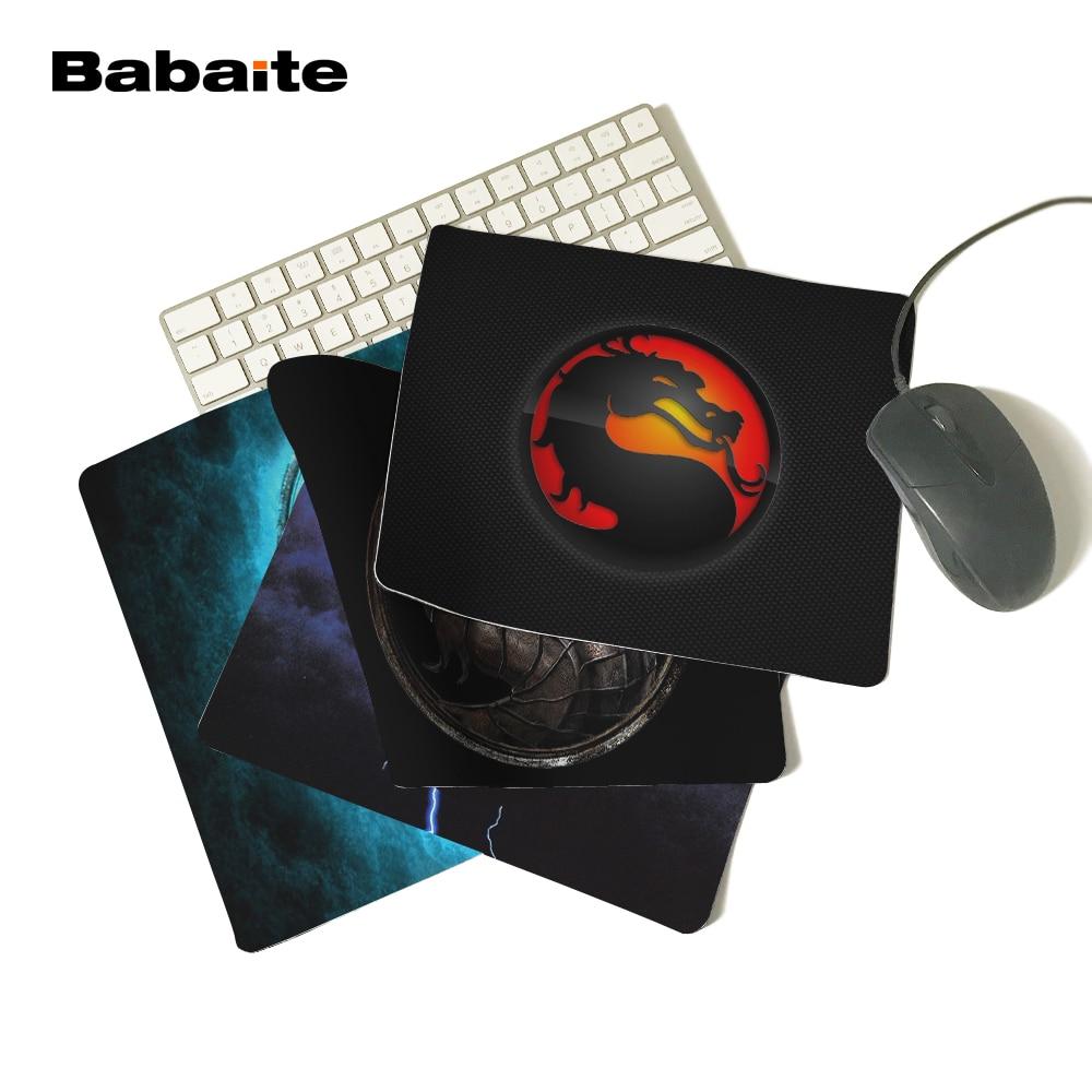 """""""Babaite New 2017"""" """"Mortal Kombat"""" logotipas """"Mouse Pad"""" nešiojamas kompiuteris """"Gaming Mouse Pad"""" žaidėjų priedai"""