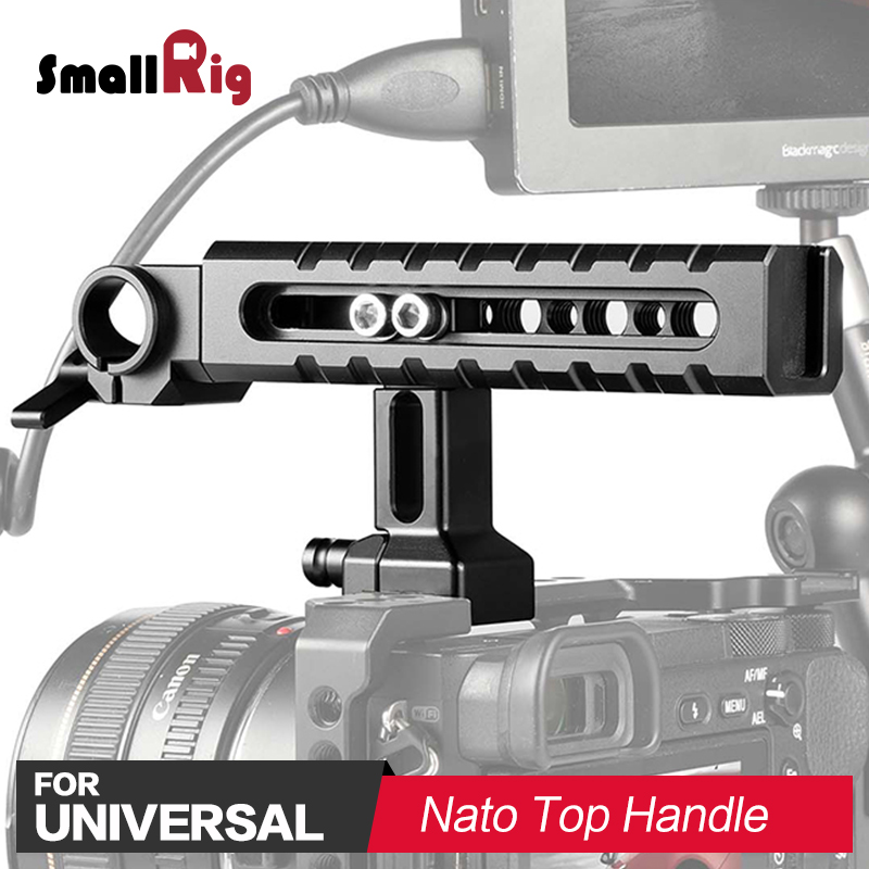 SmallRig Quick Release Camera Top Handle Accessory Kit With 15mm Rod Clamp For Monitor Support Nato Handle For Sony Cage 2027