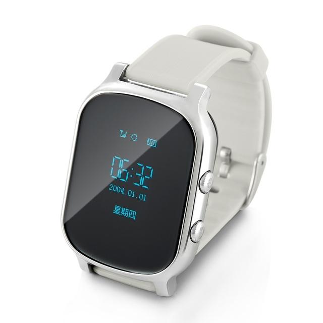 Relógio Do Telefone inteligente Crianças Kid Relógio De Pulso GSM GPRS Localizador GPS Tracker Criança Guarda de alarme Anti-Perdida Smartwatch para Android iOS
