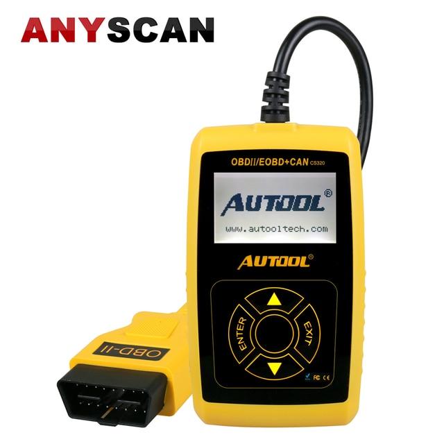 Special Price Auto Diagnostic Scanner AUTOOL CS320 OBD/EOBD Engine Fault Code Reader Car Diagnosis Scan Automotive Tool Exceed AUTEL AL319