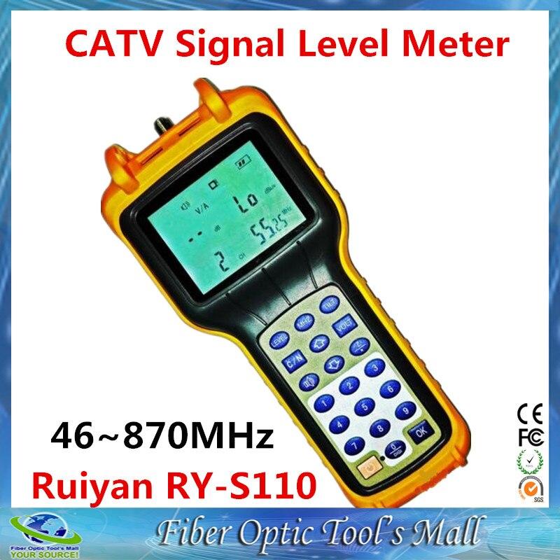 imágenes para Ruiyan RY-S110 CATV Medidor de Nivel de Señal Digital de alta Precisión 46 ~ 870 MHz