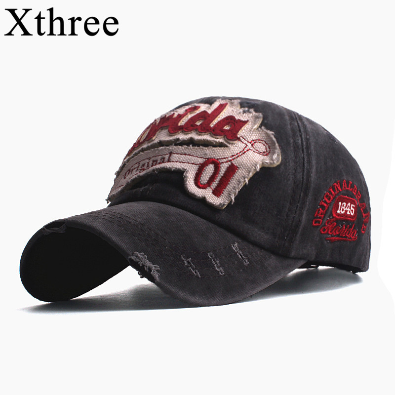 Xthree Men's   baseball     caps   for men   cap   style women hat snapback embroidery florida casual   cap   casquette dad hat hip hop   cap