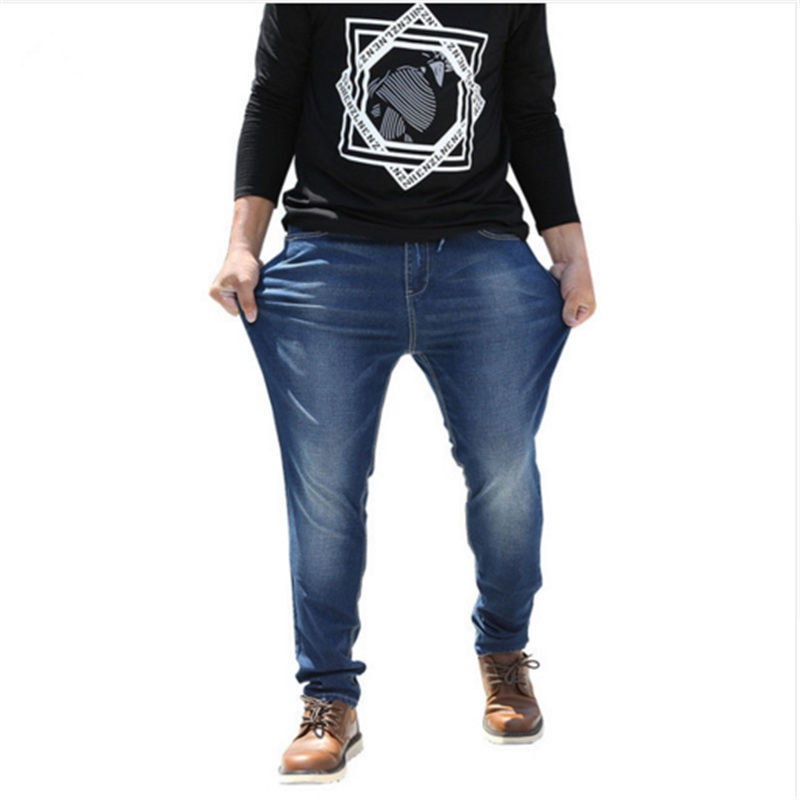 2017 new Autumn and winter models Men Casual Jeans plus size Straight Elasticity Jeans New Fashion Loose Waist Long Trousers afs jeep autumn jeans mens straight denim trousers loose plus size 42 cowboy jeans male man clothing men casual botton