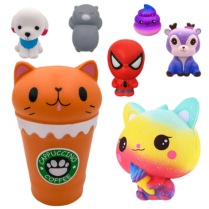 Squishy Cute Cartoon Cat Cup Ice Cream Cat Scented Squishy Slow Rising Baby Kids Toys Antistress Gadgets Squishy Stress Relief