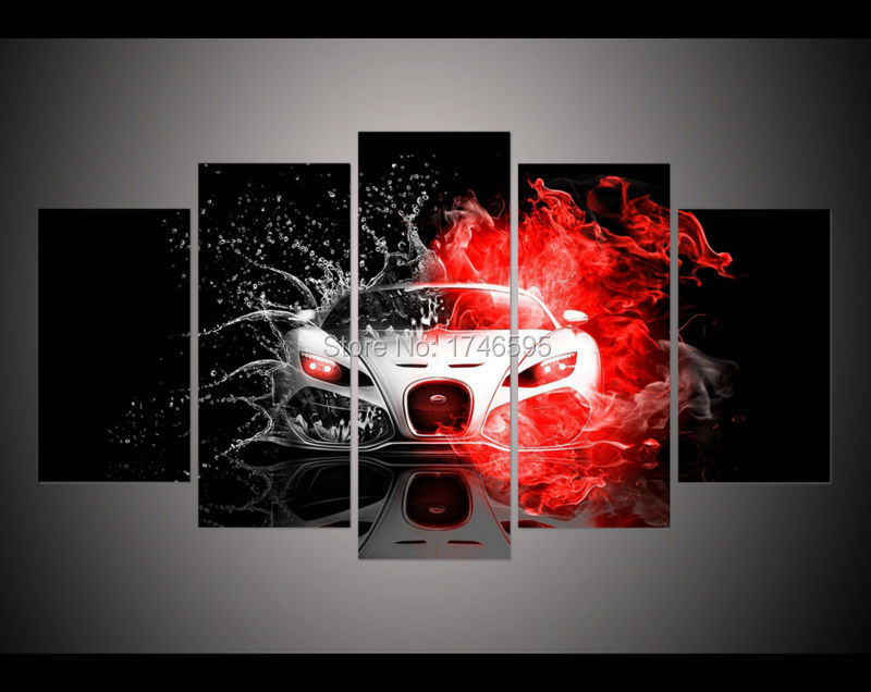 modern living room wall decor home decoration fast and furious car ...