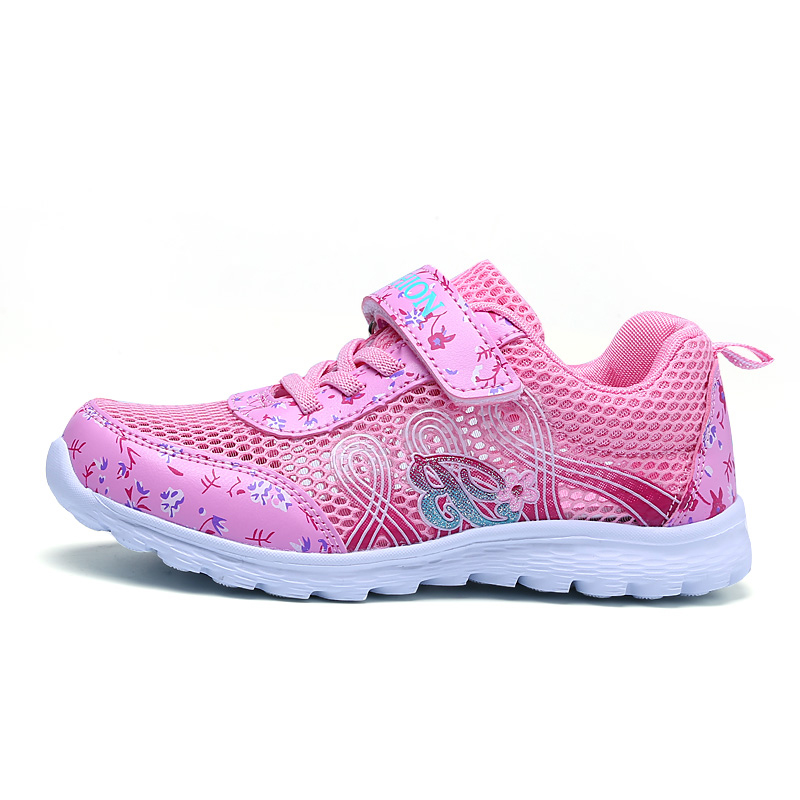 High Quality Thick Sole Non-slip Kids Sneakers Footwear Zapatos Girls Running Shoes Outdoor Children Walking Shoes Child Girl