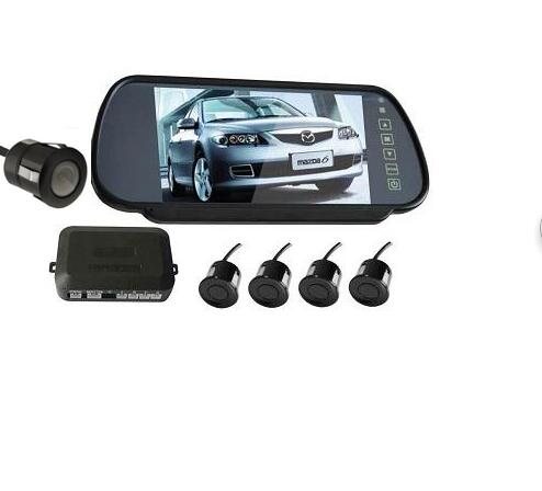3 in 1 monitor parking camera video system/7 inch rear view mirror monitor with back up mini camera with 4 sensor radar parking wireless parking assistance sensor backup radar with rear view camera 4 3 inch lcd car rearview mirror monitor video parking