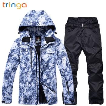 2020 New Hot Ski suit Men Snowboard Double skis Waterproof Winter Outdoor ski suit Men suit jacket + pants Thick warm snow suit